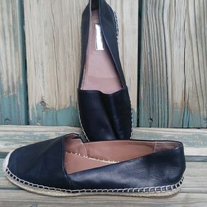 Halogen Leather Espadrille Flats
